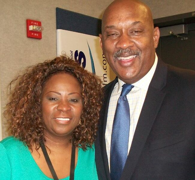 Frankie Darcell and US Congressman Dwight Evans of The 3rd District