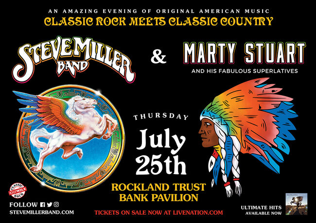 WZLX's 34th Birthday Bash with Steve Miller Band at The Pavilion 7/25