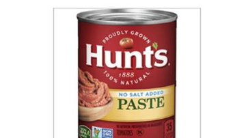 Steve - Limited recall of Hunt's Tomato Paste cans due to potential mold