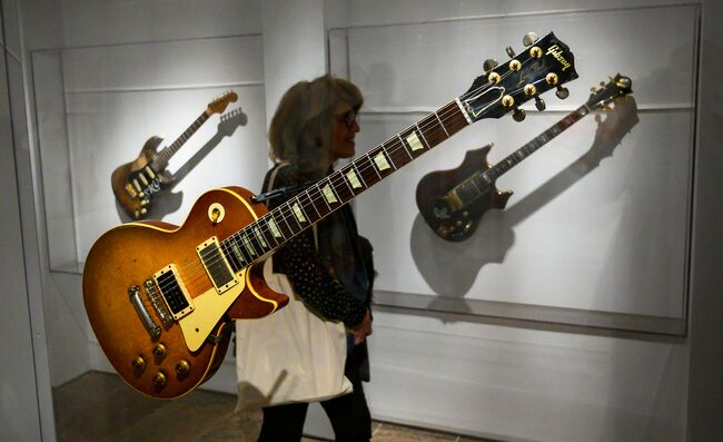 'Play It Loud' Exhibits Rock's Most Iconic Instruments At Met Museum