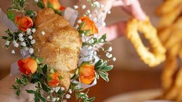 Tyler Z - Croissants for prom corsages - love it!