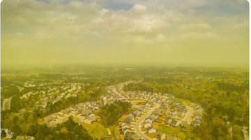 BC - Massive Amounts Of Pollen Turns Sky Yellow In N.C.
