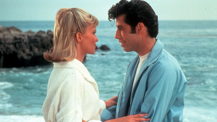 Olivia Newton John And John Travolta In 'Grease'