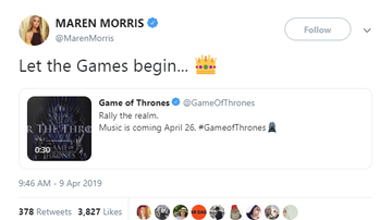 Bree - Maren Morris Is On The Game of Thrones Soundtrack!