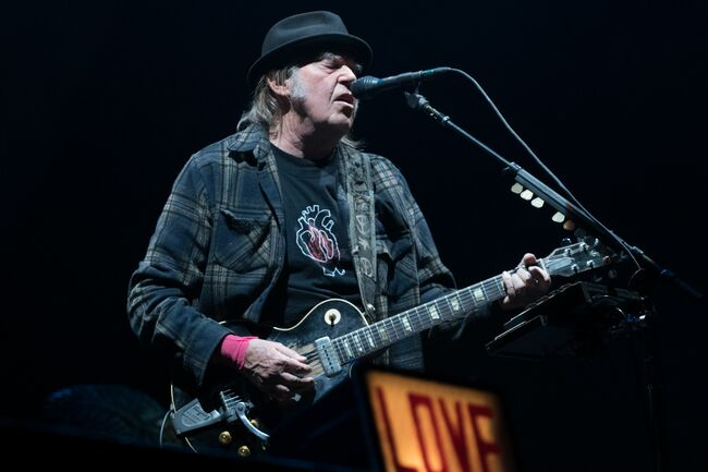 Neil Young in Quebec City Festival d'Ete on July 6, 2018, ALICE CHICHE/AFP/Getty Images