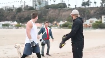 Johnjay And Rich - Bradley Cooper Interrupts Boxing Session On The Beach