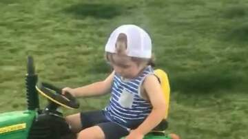 Frank Bell - Toddler Nods Off on Toy Tractor