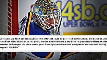Outkick The Coverage with Clay Travis - NHL Not Punishing Blues Goalie After 'Offensive' Dated Tweets Surfaced