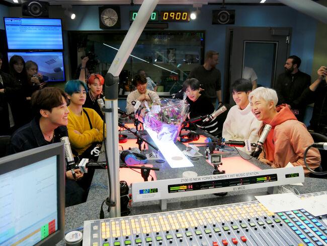 BTS In Studio With Elvis Duran