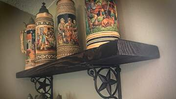 Monsters - Russ Builds shelves for valuable Antique German Beer steins