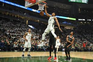 Highlights: NBA Playoffs: Bucks 121, Pistons 86