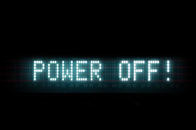 power off digital message