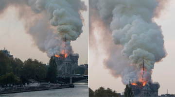 BC - Famed Notre Dame Cathedral Catches Fire In Paris