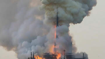 GiGi Diaz - Notre Dame Cathedral in Paris Catches Fire