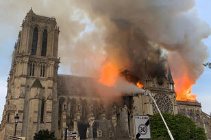 Massive Fire at Famed Notre Dame Cathedral in Paris