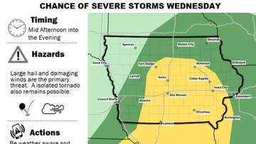 WOC-AM Local News Blog - Threat of severe storms Wednesday in Iowa STORM MAPS