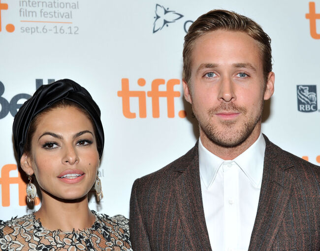 Actors Eva Mendes and Ryan Gosling attend 'The Place Beyond The Pines' premiere during the 2012 Toronto International Film Festival at Princess of Wales Theatre on September 7, 2012 in Toronto, Canada. (Photo by Sonia Recchia/Getty Images)