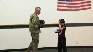 Conrad - Watch: Returning Solider Surprises Son Who Is Sparring With a Blindfold On!