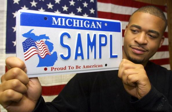 Patriotic Michigan License Plate