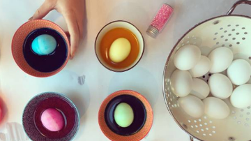 Jana - Dyeing Easter Eggs, FUN! But don't eat them.