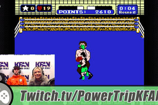 TWITCH Highlight: Carly Zucker plays Punch-Out w/the Power Trip