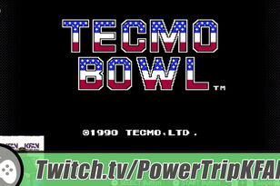 TWITCH Highlight: The Power Trip plays Tecmo Bowl w/Mark Parrish on NES