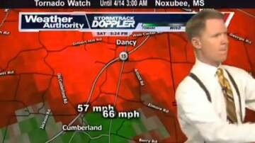 Charles Adams - Mississippi Weather Man BERATES His Assistant on LIVE TV