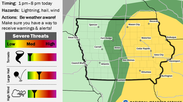 WOC-AM Local News Blog - Severe storms possible Wednesday afternoon and evening MAPS
