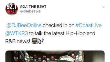 DJ Bee - Checked in with April on #CoastLive this morning! #dablock #thebeeshow