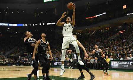 Bucks - Bucks overcome slow start to defeat Pistons 120-99 in Game 2