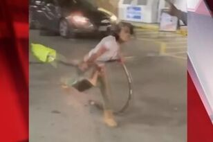 WATCH: Women Spray Gasoline and Swing Pumps in Fight Over Hotdogs
