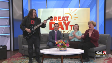Don Stuck - Don Stuck Jams Guitar On WISH TV News Set