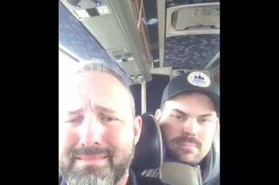WATCH: Hawkey just ran a FORTY-MINUTE AMA on the Jefferson Bus to Fargo!