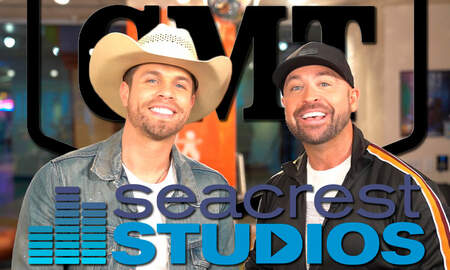 CMT Cody Alan - Dustin Lynch & Cody Alan & Film CMT Hot 20 Episode At Seacrest Studios