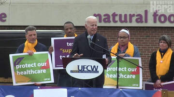 Matty in the Morning - Joe Biden Addresses Stop & Shop Employees at South Bay
