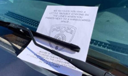 Weird News - Texas Cop Trolls Driver Who Couldn't Park Between The Lines