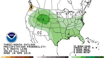 None - Summer weather forecast:  Midwest may be wetter than normal MAPS