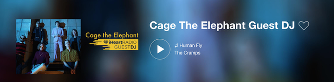 Cage The Elephant iHeartRadio Guest DJ Station
