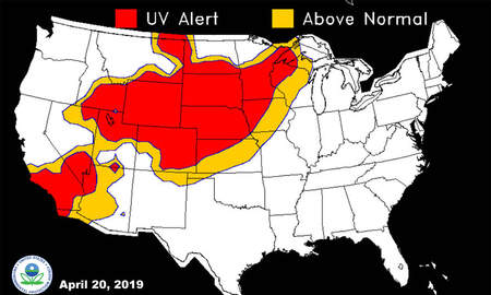 None - From windchill warnings to sunburn alert IOWA NEBRASKA UV MAP