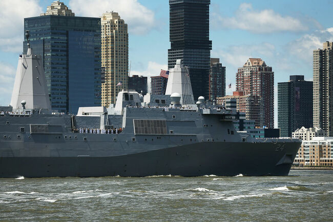 A Navy spokesperson confirmed that NCIS is investigating the device found aboard the USS Arlington, currently in port in Greece.