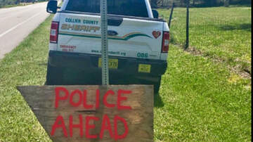 Weird News - Handmade Sign Warns Florida Motorists Of Speed Trap