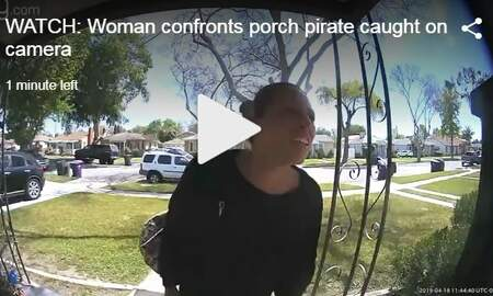 Mix Mornings with Laura Diaz - VIDEO: Woman Confronts Porch Pirate