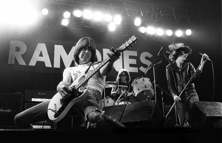 Photo of RAMONES and Johnny RAMONE and Joey RAMONE and Tommy RAMONE