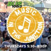 MUSIC IN THE JUNCTION with THE BUS! Click For Info