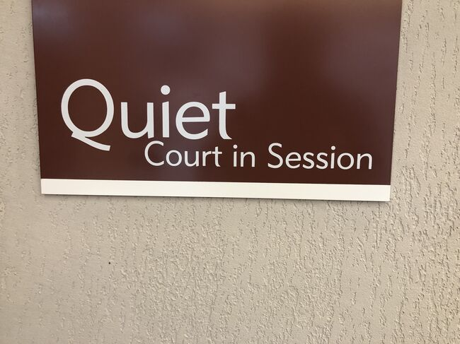 Quiet sign court session
