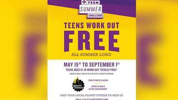 #iHeartPhoenix - Teens Can Now Work Out For Free This Summer At Planet Fitness