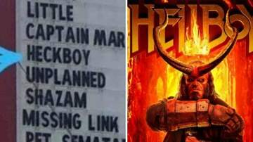 Klinger - Town In Tennessee Changes Movie Title On Sign From Hellboy to Heckboy