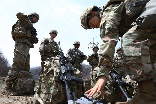 U.S. Troops Conduct Military Exercises In Pocheon