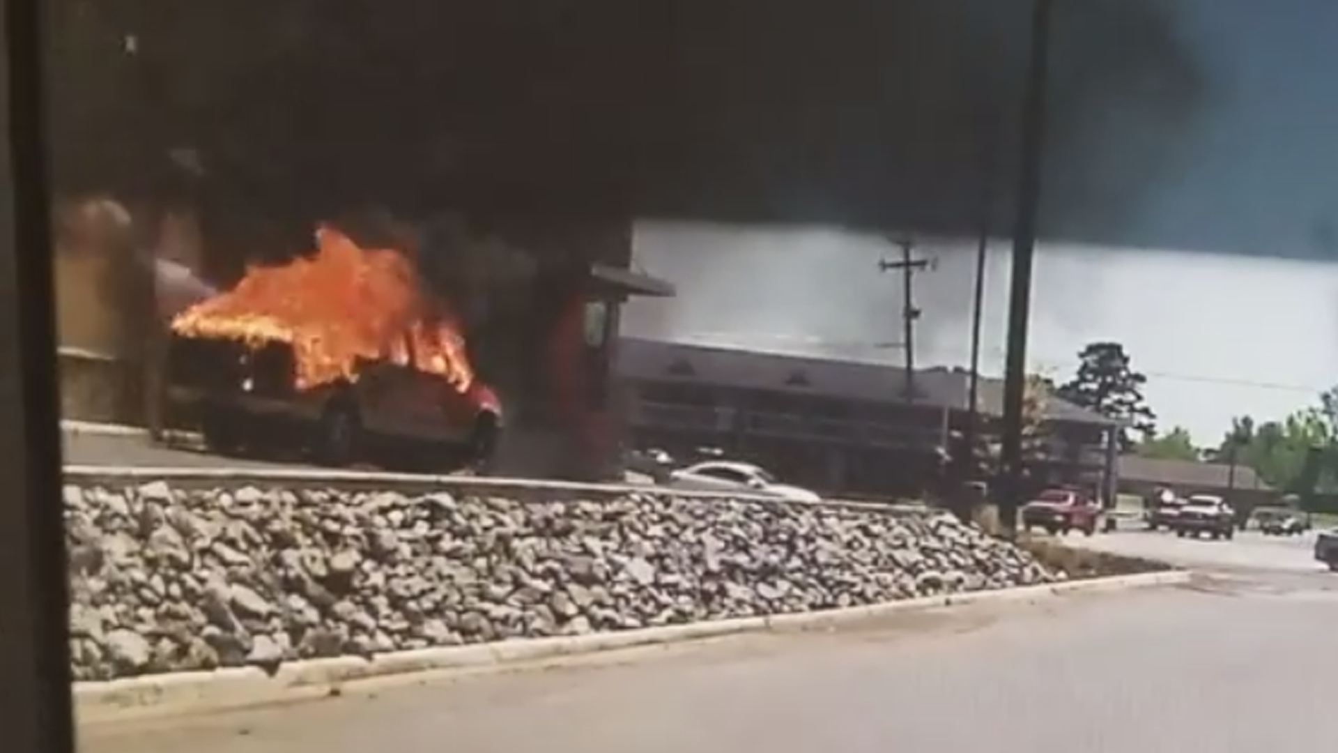 Dashcam Footage Shows Truck Exploding In Burger King Drive