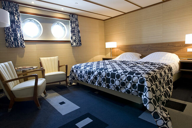 A room in the SS Rotterdam, the former f